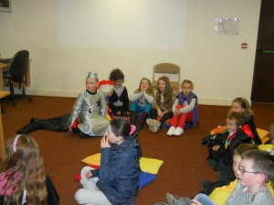 Happy Howwwwloweeen in Bunclody library 31 Oct 2012