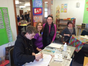 Bookmarks 2015 Our Lady of Lourdes Inchicore with teacher Anne Marie Roche and Illustrator Hannah Maguire