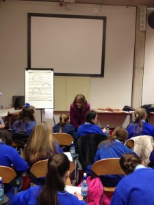 Launching Trinity College Bookmarks to 3 Dublin schools