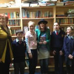 Principal Aideen Treacy and students of Culmullen NS Meath