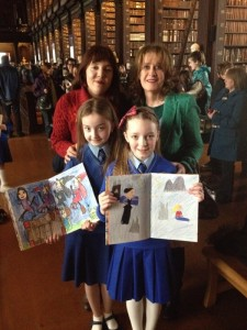 Trinity Bookmarks Finale with Marist Crumlin girls 2 April 2014